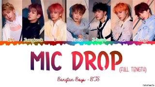 [Full Length Edition] BTS  - MIC DROP (Steve Aoki Remix) Lyrics [Color Coded Han_Rom_Eng]
