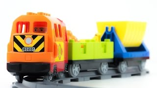 LEGO Duplo 10508 Deluxe Train Set Stop Motion Cartoon of Toys VIDEO FOR CHILDREN