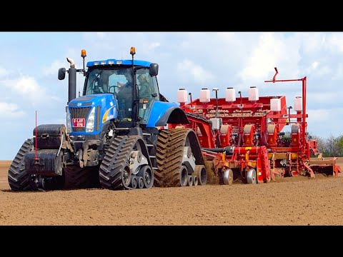 Potato Planting XXL New Holland T8050 400HP Grimme GL860 Compacta planter Koolen Bergeijk