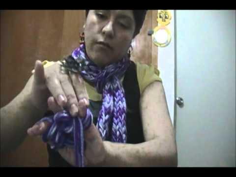 Hacer una bufanda con la mano