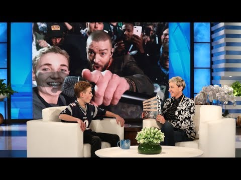 Xxx Mp4 Justin Timberlake Surprises Super Bowl Selfie Kid Ryan McKenna 3gp Sex