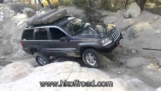 HK Offroad - Winch Bumper Durability Test - Jeep Grand Cherokee WJ
