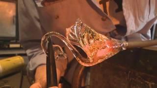 SEATTLE GLASS BLOWERS 3  - SCULPTING A GLASS SWAN