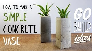 How to make the simpelest CONCRETE VASE