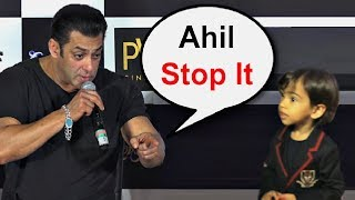 Salman Khan Shouts At Nephew Ahil Sharma At Loveratri Trailer Launch