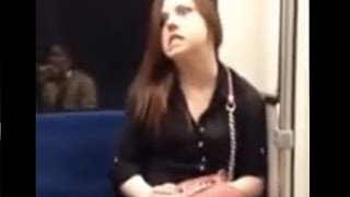Demon Possessed Woman Attacks Man On The Train - Caught On Camera