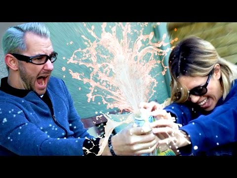 Explosive Soda Bottle Flip Challenge!
