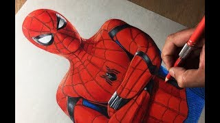 Speed Drawing: Spiderman Homecoming - Marvel - Avengers - Timelapse | Artology
