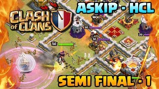 FRENCH CLASH OF CLANS TOURNAMENT - 3 Stars in Clash of Clans! ASKIP HCL Semi-Final 1