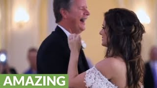Dad receives special surprise during father-daughter wedding dance