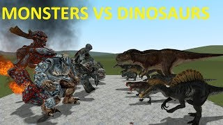DINOSAURS VS MONSTERS - BIG BOSSES - GMOD FIGHTS