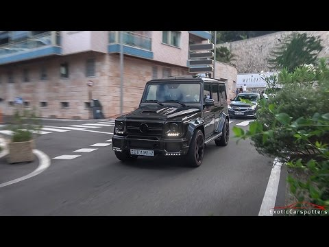 Xxx Mp4 3x LOUD 700 HP Brabus B70 Mercedes G63 AMG Driving In Monaco 3gp Sex