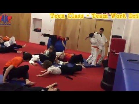 www.MccoysActionKarate.com Presents Teen Class 3/7/16 Teem Work Drill