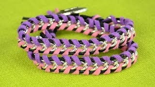 DIY: Leather Wrap Bracelet With Chain - Easy Tutorial
