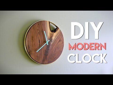 Xxx Mp4 DIY Modern Live Edge Wall Clock How To Woodworking 3gp Sex