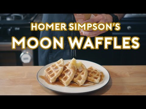 Binging with Babish Homer Simpson s Patented Space Age Out Of This World Moon Waffles