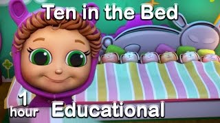 Ten in the Bed  (Learn Counting) | Educational Nursery Rhyme Compilation