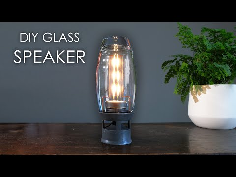 DIY glass speaker How to build your own.