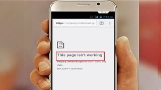 How to Fix This Page Isn't Working Error of Chrome in Android