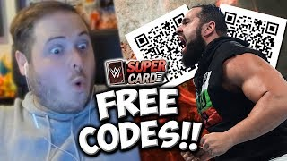 FREE QR CODE GIFTS!! Credits, Packs and Battlepoints!   WWE SuperCard