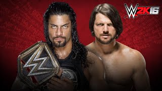 WWE Extreme Rules 2016 Roman Reigns Vs AJ Styles