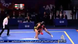 مصر تجرد بطل العالم بالكونغ فو لرفعه شعار رابعة