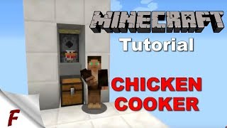 Minecraft Automatic Chicken Cooker Tutorial Lossless Cooked 1.12