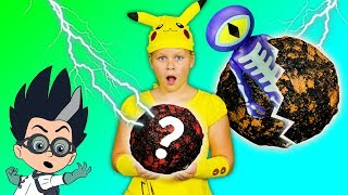 ASSISTANT Spooky Surprise Moon Rocks with PJ Masks and Pokemon Halloween Toys