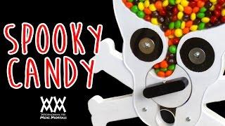 Skull and crossbones Halloween candy dispenser