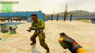 Counter Strike Source Zombie Escape mod online gameplay on Nuke map