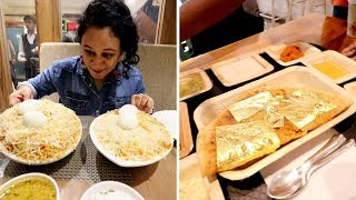 LOCAL HYDERABADI BIRYANI | GOLD DOSA | Hyderabad Ep 4 | Indian Food Vlog