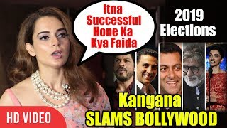OMG ! Kangana Ranaut SLAMS Bollywood Celebrities For Being Quiet On Political Issues