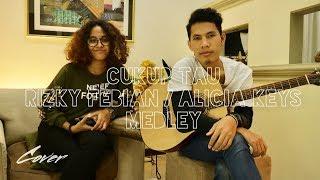 Rizky Febian / Alicia Keys - Cukup Tau Medley (cover By Riski Astawa Feat. Imbert)