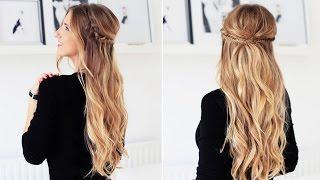 Fishtail Braid Half- Updo For Short, Medium, and Long Hair | Luxy Hair