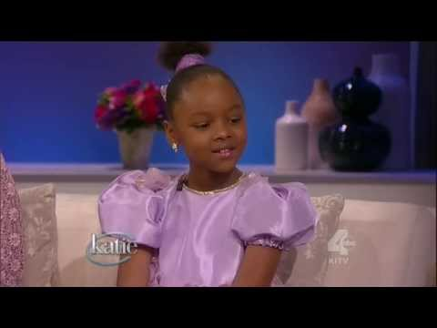 8 year old polyglot Mabou Loiseau 8 languages 8 musical instruments sings on Katie Couric