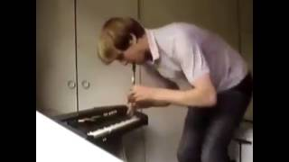 guy dancing around while playing flute meme