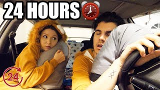 24 HOUR OVERNIGHT CHALLENGE IN MY MITSUBISHI EVO 8 **GIRLFRIEND FREAKOUT**