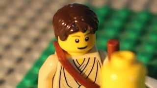 David and Goliath in lego