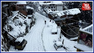 Heavy Snowfall Leaves Many Tourists Stranded In Himachal