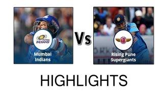 MI vs RPS IPL 2016 Full Match Highlights 2016   Mumbai Indians vs Rising Pune Supergiants 2016#Image