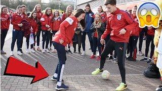 CAN I NUTMEG THE ENGLAND WOMENS FOOTBALL TEAM !? (CRAZY REACTIONS)