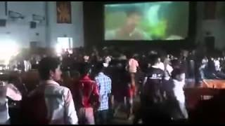 Vijay fans escaping from Theater