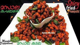 Spicy Masala Peanuts Bakery Style മസാല കപ്പലണ്ടി Masala Kappalandi / Masala Kadala