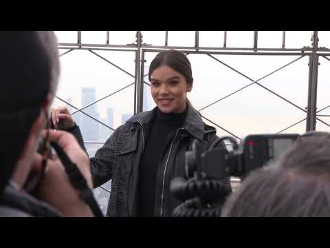 Bumblebee Empire State Building Make a Wish lighting ceremony & party B Roll SocialNews.XYZ