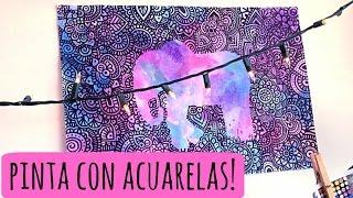 Acuarelas y Sal!   Zentangle Art