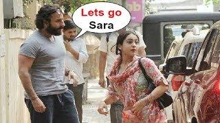 Saif Ali Khan With Daughter Sara Ali Khan At Kedarnath Movie Meeting In Bandra