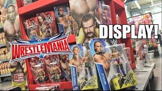 WWE WRESTLEMANIA 32 DISPLAY! Sasha Banks! Neville! Build A Figure! Elite TOY HUNT
