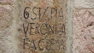 The Via Dolorosa - the story of the St. Veronica. Jerusalem, Israel
