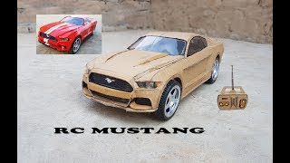 WOW! Super RC Mustang     DIY    Cardboard Ford Mustang    How to make Electric Toy Car