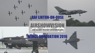 RAF WINGS GRADUATION OCT 2016: LINTON-ON-OUSE Featuring GiNA! (airshowvision)
